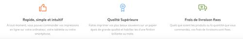 image du service de qualité par Albelli par la livraison, la qualité du produit et la rapidité