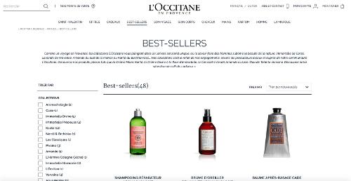 image des produits les mieux vendus de la boutique L'Occitane Belgique