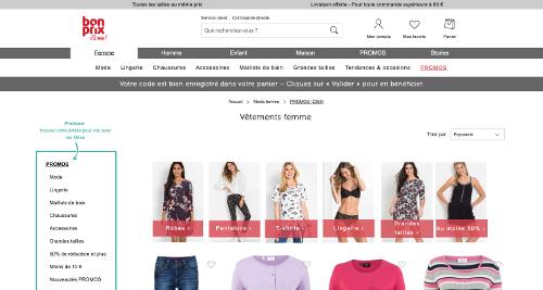 image de la page promos de la boutique bonprix.be