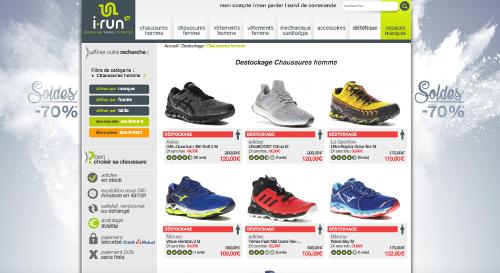 Les chaussures de running jusqu'à 70% sur irun.be