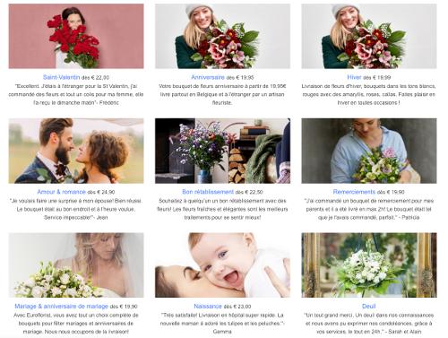 image de fleurs pour toutes les occasions sur Euroflorist.be