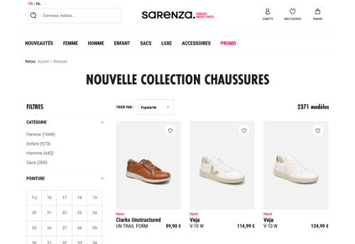 image des nouvelles paires de chaussure sur sarenza.be