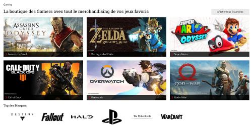 image du rayon gaming sur Large Belgique