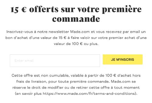 image de la réduction de 15€ en s'inscrivant à la newsletter