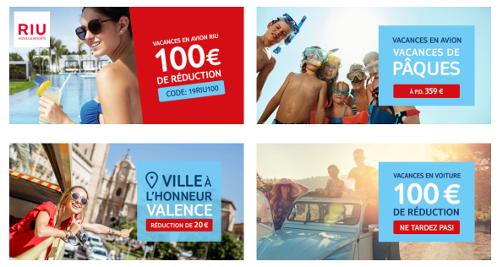 image de plusieurs offres -100€ et des séjours à petit prix pour pâques.